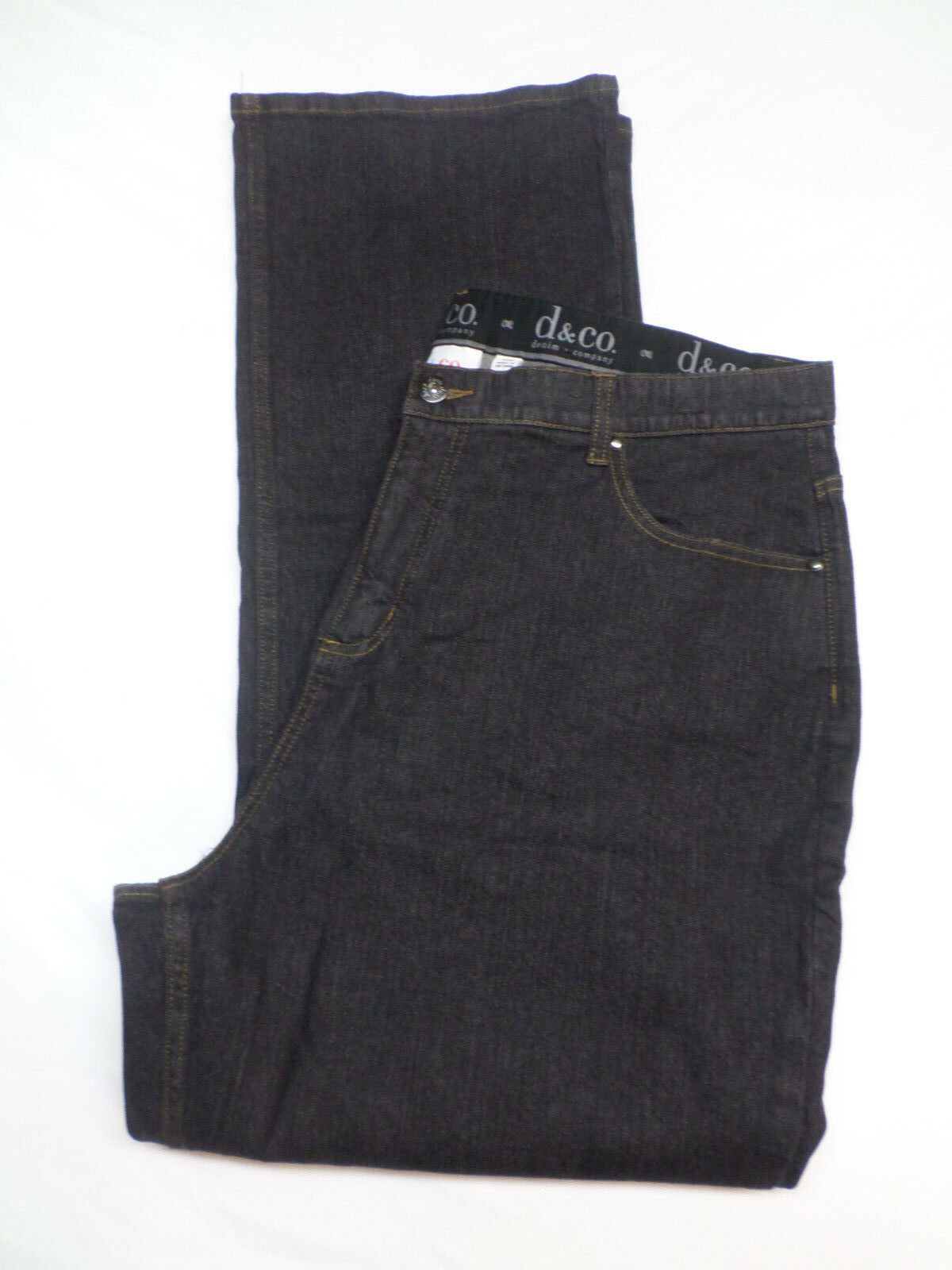Denim + Company D & Co. Dark Wash Stretch Jeans Tummy Control Women's Size 22W