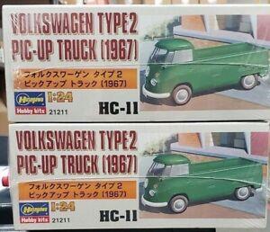 Hasegawa 1/24 Volkswagen Pic-Up Camión Tipo 2 Nuevo en Caja x 2 Kits
