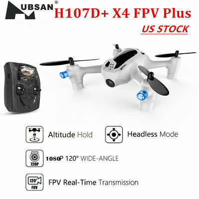 "Hubsan FPV X4 H107D Plus Drone 4.3/"" Monitor 720P Headless RC Quadcopter RTF US"