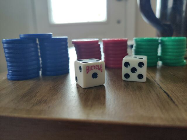 SEQUENCE Board Game Replacement 52 CHIPS Red Blue Grn plus DICE
