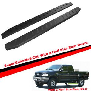 U-Drive Auto 4 Black Curved Running Boards Side Steps for 1999-2003 Ford F150 Super Cab 2 Full Size Front Doors 2 Half Size Rear Doors Only
