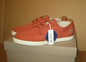 Lacoste-Esparre-Deck-Sneaker-Red-Light-Brown-Size-11-5