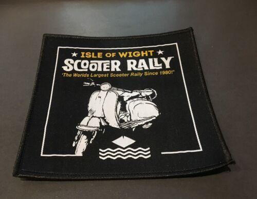 Isle of Wight Scooter Rally 2018 Sew On Patch BN Mod Vespa Lambretta