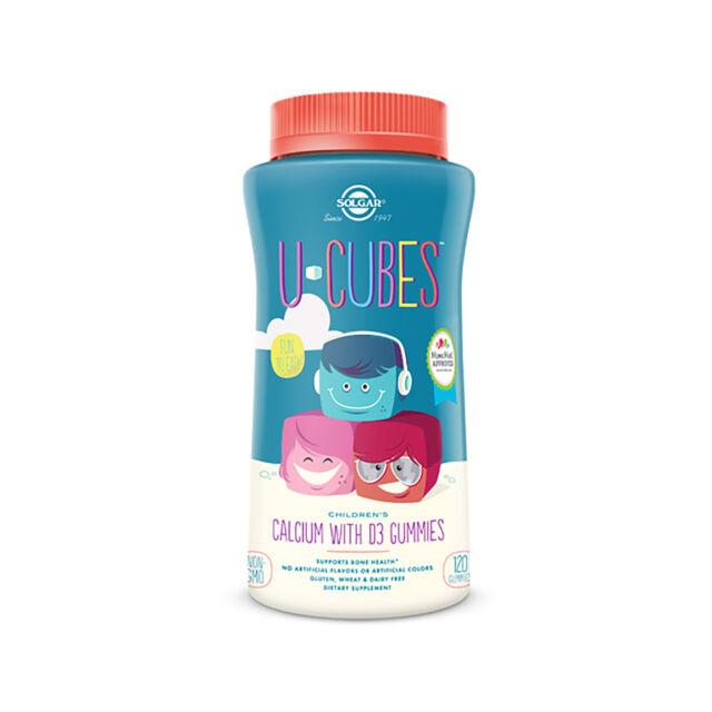 Solgar U-Cubes Children s Calcium with Vitamin D3 120 Gummies FREE US  SHIPPING 4d6b788944dd