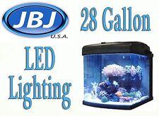 JBJ Nano Cube 28 Gallon INTERMEDIATE Aquarium Coral Fish LED Tank MT-603-LED