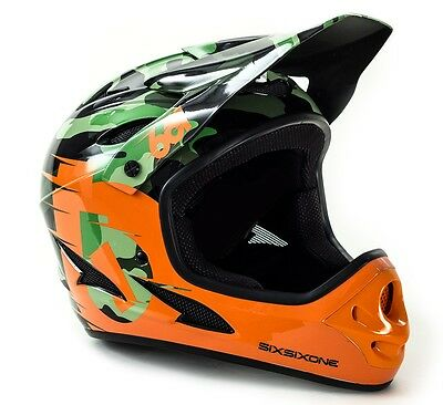 SixSixOne Comp Full Face Mountain Bike Helmet - 661 - Camo