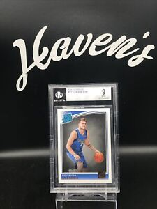 2018-19 Donruss Optic #177 Luka Doncic Rated Rookie RC BGS 9 MINT Mavs