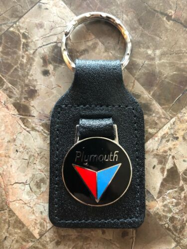 New Old Stock Original 1980's Plymouth Genuine Leather Key Chain #2