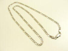 FIGAROKETTE KETTE HALSKETTE 925 SILBER ITALY SILVER CHAIN COLLANA COLLIER ARGENT
