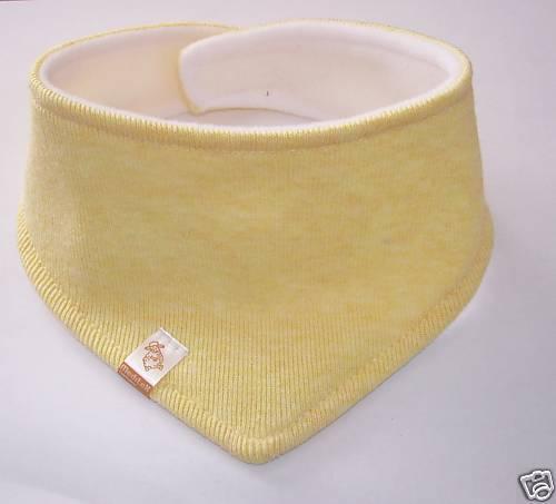 Spucktuch für Baby 1Stück gelb Sabbertuch Halstuch für zahnende Babys Neu