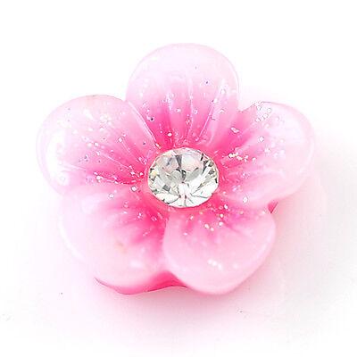 20pcs 3D Multi-Color Acrylic Flower Beads Glitters Nail Art Tips DIY Decorations