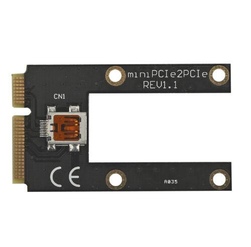 Via 50cm USB Graphics card plus to laptopminiPCI e TO X16 PCIe riser Adapter