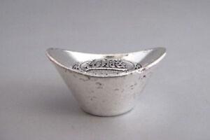 China-580-Miao-Silver-handmade-Yuan-Bao-ingot-Qing-Dynasty-19th-Century
