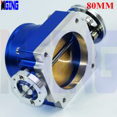 "VQ35TPS 80mm 3.15/""inch Throttle Body Billet Intake Manifold racing Bule"