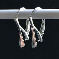 Solid 925 Stmpd Sterling Silver Leverback Earring Findings