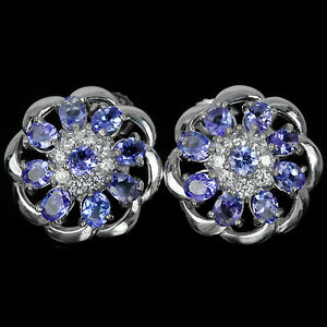 Image Is Loading Sterling Silver 925 Genuine Natural Rich Blue Violet