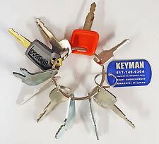 10 Keys Heavy Equipment / Construction Ignition Key Set Caterpillar Case JD more