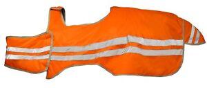 AKTION Reflex Ausreitdecke Reflektordecke Orange Größe 135-165 Pony Cob Full