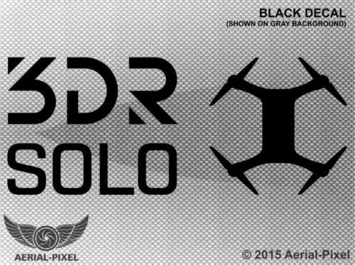 3DR Solo Window Case Decal Sticker Quadcopter UAV Drone 3D Robotics GoPro!
