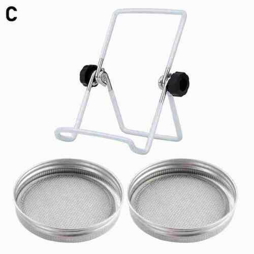 Foldable Seed Sprouting Lids Stand Steel Scaffolds for Mason Jar