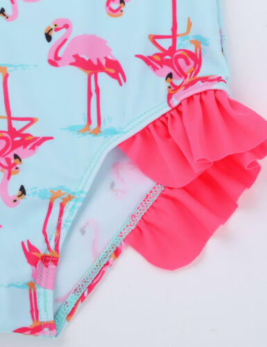 Kids Girls One-piece Swimsuit Swimwear Toddler Floral Beachwear Bathing Suit