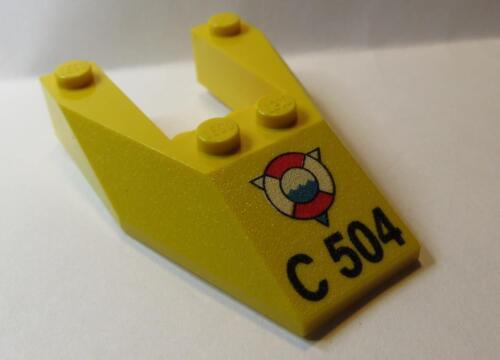 Wedge 6 x 4 Cutout w//o Stud Notches Rescue Logo C 504  6153px4 1 LEGO Parts~