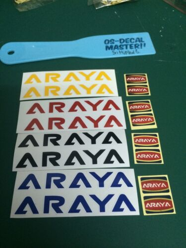 Blue Araya Rims Decal 7X 7C Oldschool Bmx Set