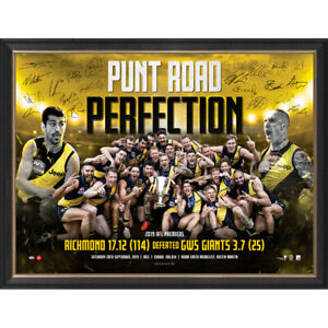 Richmond-Signed-2019-AFL-Premiers-034-Punt-Road-Perfection-034-Official-Print-Framed