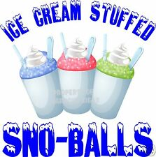 "Sno Balls Decal  14"" Ice Cream Stuffed Concession Trailer Cart Food Truck"