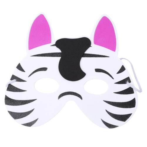 New 12pcs Childrens Kids Foam Jungle Animal Masks Dressing up Loot Party toys LC