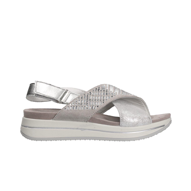 IGI&CO Sandali fondo mod. alto argento scarpe donna mod. fondo 11722 796595