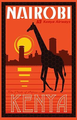A3 SIZE Vintage Retro Travel /& Railways Poster Print #3 AFRIQUE