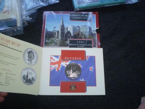 1998 City of Christchurch New Zealand NZ BU $5 UNC Coin