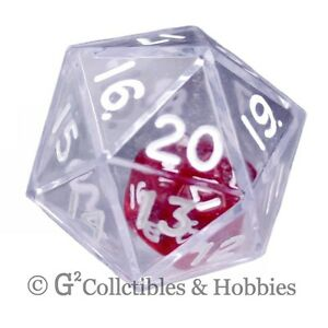 NEW Clear Double Dice RPG Gaming D20 Twenty Sided Die