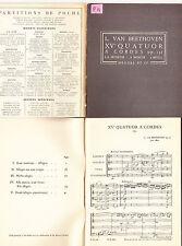 L.Van Beethoven XV eme Quatuor à Cordes op 132 partition de poche