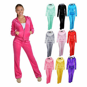 New Women s Plus Size VELOUR Hooded Pockets Ladies TRACKSUIT Set UK ... 6309691fb