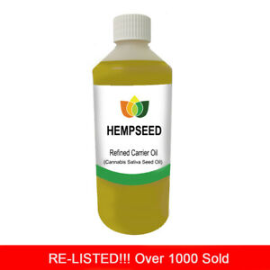 1L HEMPSEED REFINED OIL PREMIUM Cold Pressed Natural Carrier/Base 1 Litre
