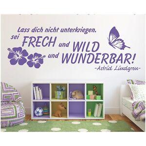 Wandtattoo-Spruch-frech-wild-wunderbar-Zitat-Lindgren-Sticker-Wandaufkleber-5
