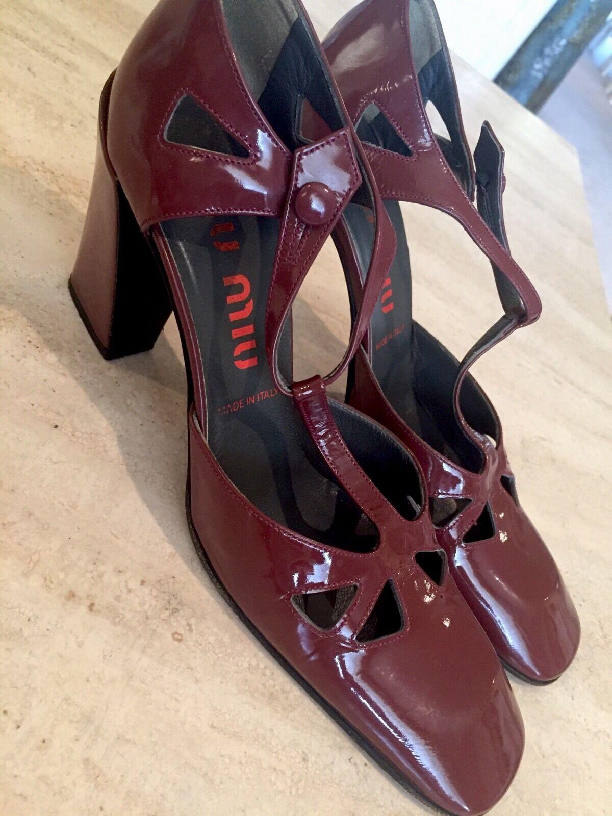 Miu Miu damen braun Slingback Heel Sz 37 Euro    7-7.5 US Excellent 84911c
