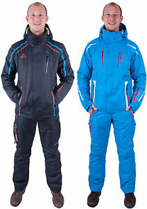 Almwerk-Herren-Skianzug-Skijacke-u-Skihose-in-blau-und-schwarz-neu-Wasserdicht