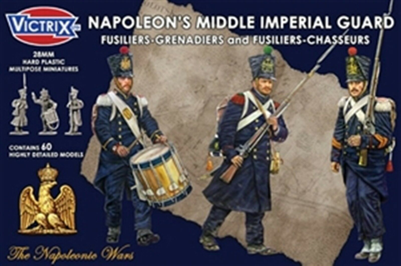 NEW VICTRIX MINIATURES NAPOLEON'S MIDDLE IMPERIAL GUARD GAME COLLECTIBLE VX0016