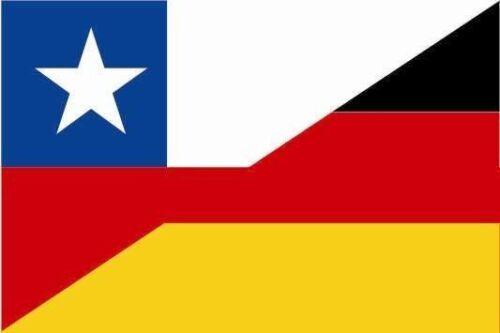 Aufkleber Chile-Deutschland Flagge Fahne 18 x 12 cm Autoaufkleber Sticker