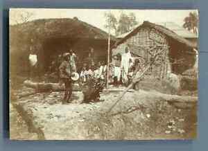India-Comediens-ambulants-de-Calcutta-Vintage-citrate-print-Inde-Tirage