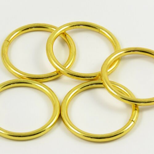 35mm 1 3//8 Pulgadas Cromo Oro//::: Pesado O-ring Para Bolsa haciendo Leathercraft