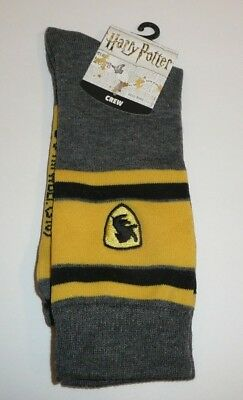 Harry Potter Hogwarts Crew Knit Socks Adult Men Wizard School Sock Size 10-13
