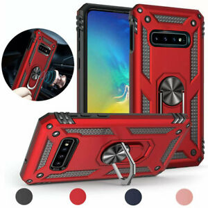 For-Samsung-Galaxy-S10-Plus-S10e-Magnetic-Support-Metal-Ring-Defender-Case-Cover