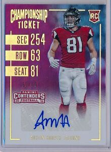 AUSTIN-HOOPER-2016-Contenders-Championship-Rookie-Ticket-AUTO-99-Falcons-RC
