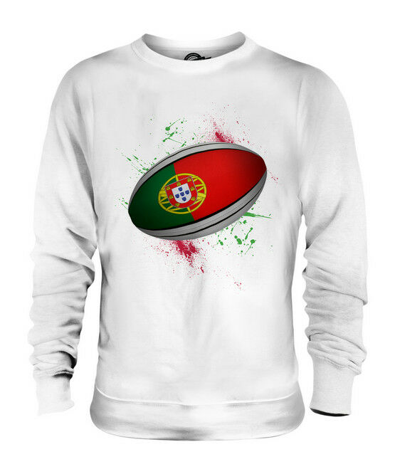 PORTUGAL RUGBY BALL SPLATTER UNISEX SWEATER  TOP GIFT WORLD CUP SPORT