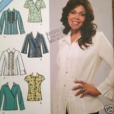 Khaliah Ali Simplicity 3789 Shirt Pattern Sizes 6-14 B C D Cup Work Blouse Uncut
