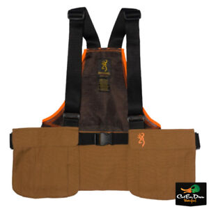 BROWNING-PHEASANTS-FOREVER-STRAP-VEST-TAN-AND-BLAZE-WITH-OUT-LOGO